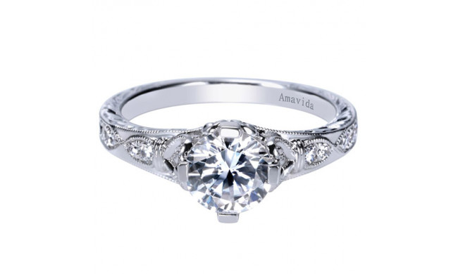 tone ring g engagement co gabriel amavida halo diamond two gold double rings